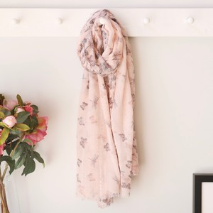 Pink Sequin Butterfly Scarf