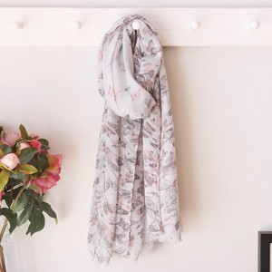 Grey Sequin Butterfly Scarf