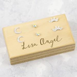 Lisa Angel Earring Block - Plain Varnish