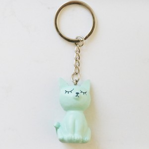 Cat Keyring in Green
