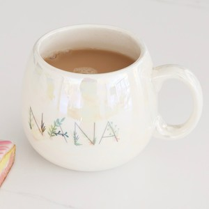 Iridescent Floral 'Nana' Mug