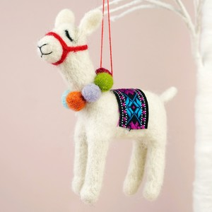 Felt Alpaca Hanging Decoration