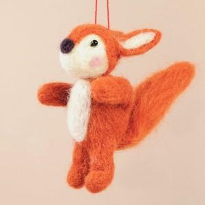 Red Felt Squirrel Hanging Decoration
