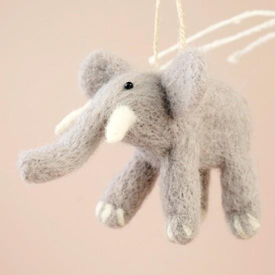 Felt Elephant Hanging Decoration