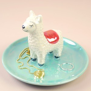 Iridescent Llama Jewellery Dish