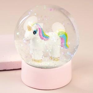 Unicorn Glitter Snowglobe