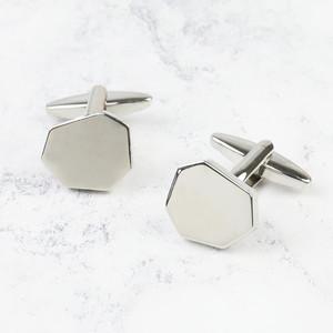 Silver Cut Wedding Cufflinks