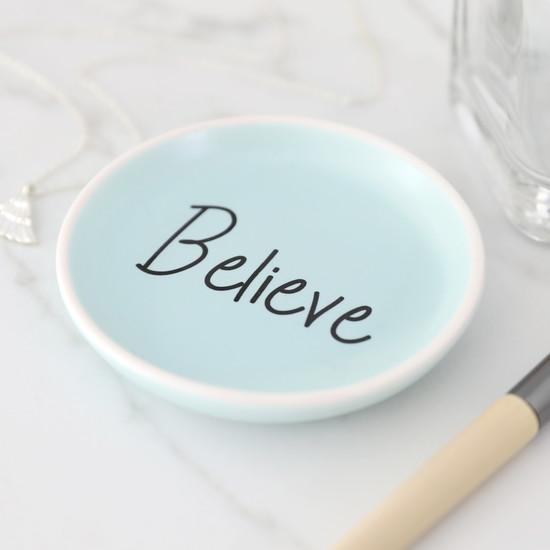 Believe Trinket Dish