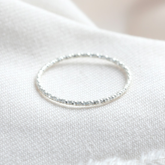 STS Sparkle cut thin ring - SMALL