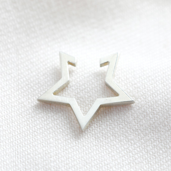 Sterling Silver Star earcuff