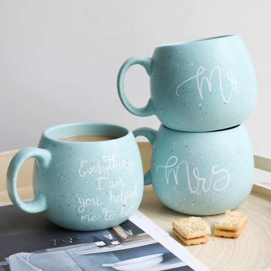 Everything I Am Blue Speckle Mug