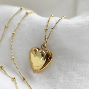 Heart Locket with Satellite Chain