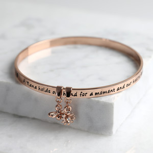 New 'Nana' Meaningful Word Bangle Rose Gold
