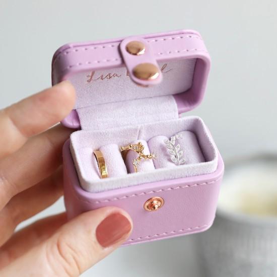 Purple Mini Travel Ring Box