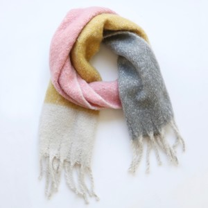 Yellow/Pink/Grey Blanket Scarf