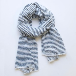 Blue and White Stripe Scarf