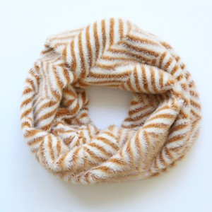 Mustard Zig Zag Faux Fur Snood