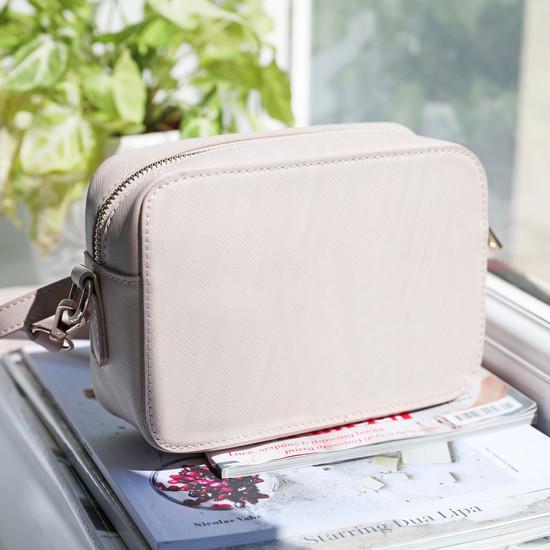 Light Pink Rectangular Shoulder Bag