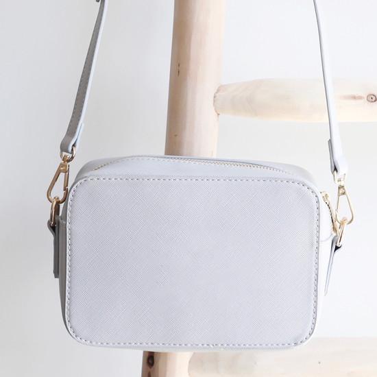 Light Grey Rectangular Shoulder Bag
