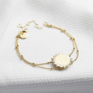 Gold sunbeam bracelet gold plated sterling silver