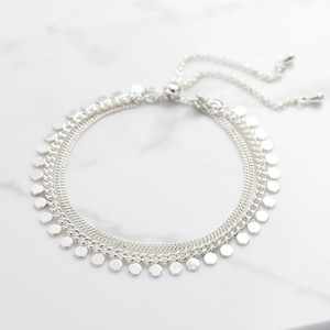 Silver Dotty Layer Toggle Back Bracelet