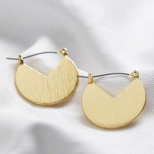 Gold Cut out triangular earrings