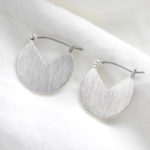 Silver Cut out triangular earrings