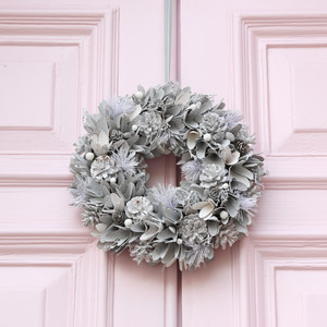 White and Grey Wreath