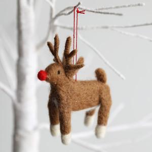 Felt Reindeer Hanging Decoration