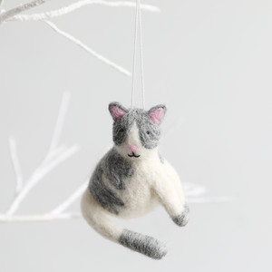 Felt Cat Hanging Dec