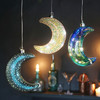 Clear Iridescent LED Hanging Moon Light
