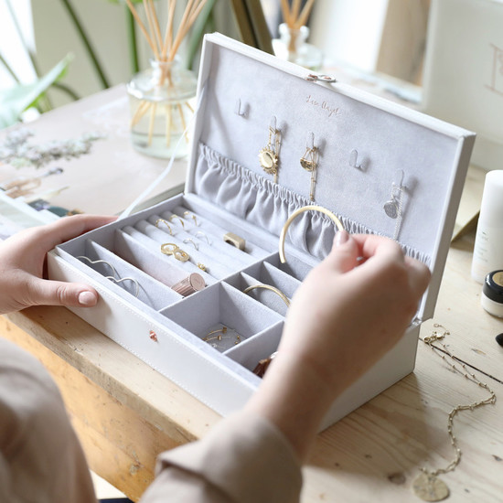 White Large Jewellery Case