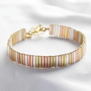 Mixed metal thin bracelet