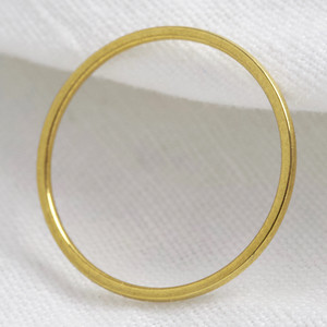 Skinny Plain Ring in Sterling 925 with gold plate size large