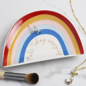 Make Today Amazing Rainbow Trinket Dish