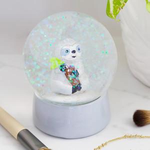 Sloth Glitter Snowglobe