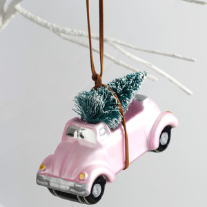 Car with Bristle Tree Bauble