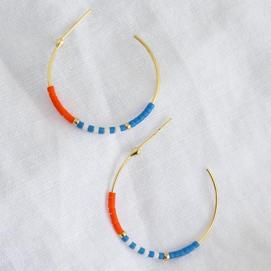 Seed Bead Earrings - Gold