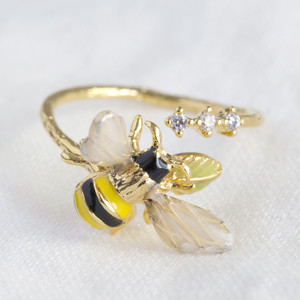 Bumble Bee Gem Open Ring
