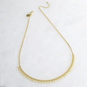 Gold Dotty Short Necklace