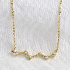Constellation Necklace in gold plate