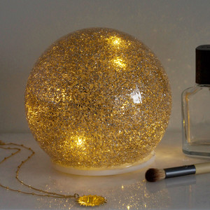 Medium Gold Glitter LED Ball