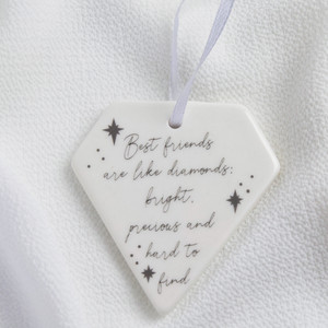Friends Diamond Ceramic Hanging Dec