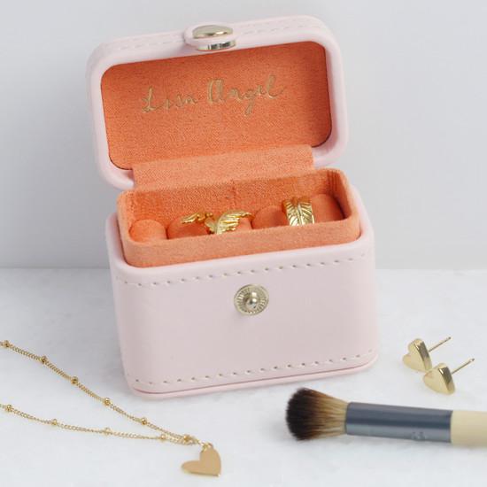 Pink Mini Travel Ring Box