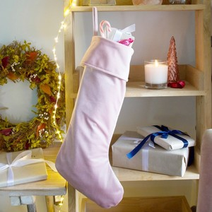 Pink Velvet Christmas Stocking