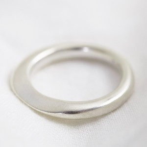 Sterling silver organic shape ring - small size