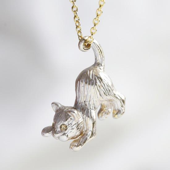 3D Cat Necklace