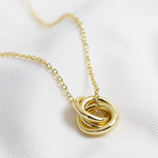 3 Rings necklace - all gold (ring size 2x12mm)