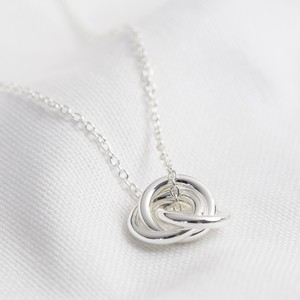 3 Rings necklace - all silver (ring size 2x12mm)