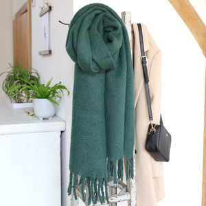 Green Recycled Blanket Scarf